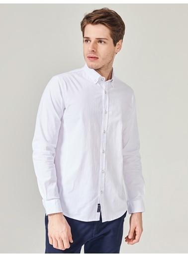 Xint Uzun Kollu Klasik Gömlek Beyaz